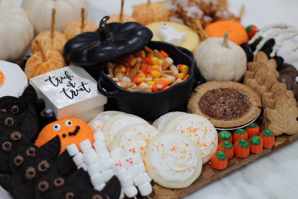 Halloween Charcuterie Board, charcuterie board, halloween food. halloween decor