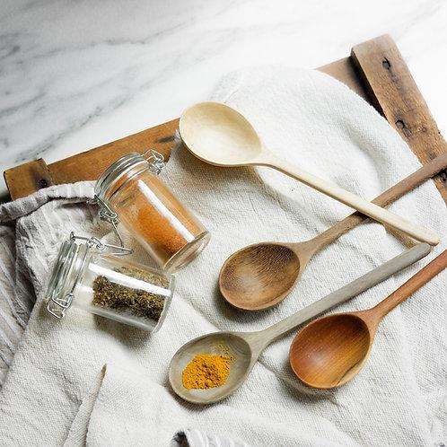 Wood Ladle Spoon Set