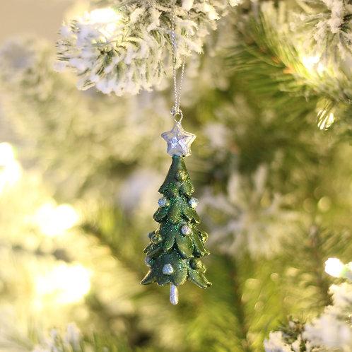 "3"" Topiary Tree Ornament Set of 2"