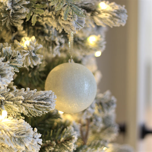 "3.5"" Beaded Ball Ornament Set of 2"