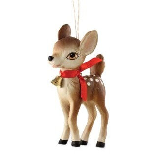 Vintage Inspired Fawn Ornament
