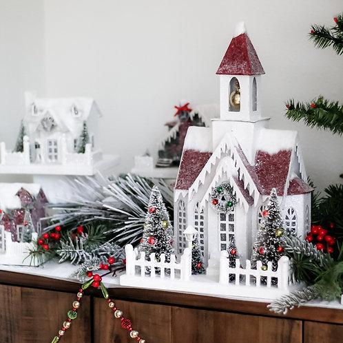 Large Vintage Christmas Church