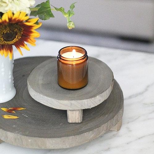 Round Wood Riser (Grey)