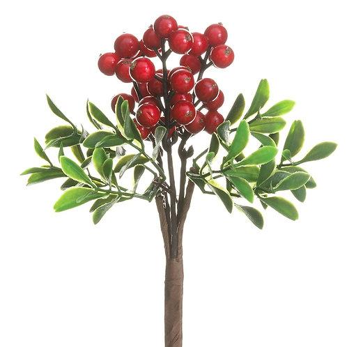 "8"" Berry/Boxwood Pick Set of 2"