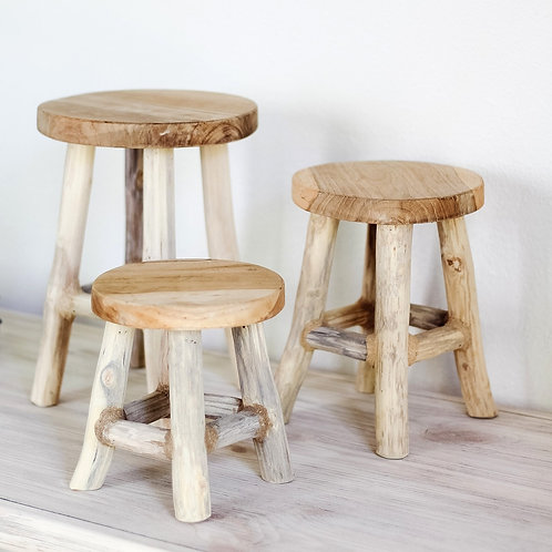 Andie Round Wood Stand