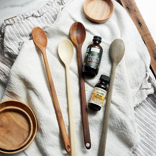 Long Wooden Spoon Set