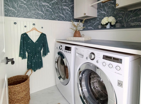 One Room Challenge Laundry Makeover Done!
