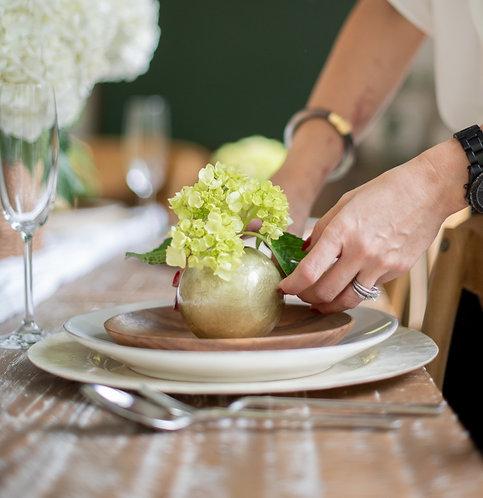 Small Capiz Round Globe Vase
