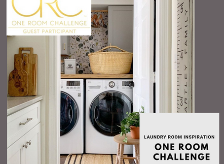 One Room Challenge Week 1: Let's Talk Tiny Laundry Makeover
