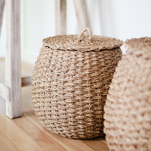Round Andi Basket Set of 2 with Lids