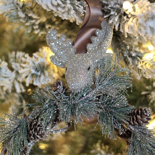 """8"""" Reindeer Hanging Wreath"""