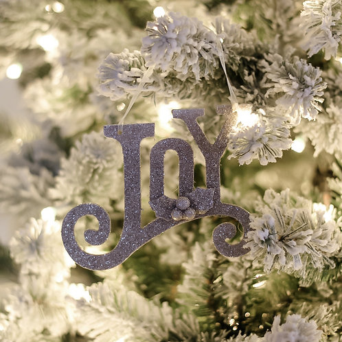 Glittered JOY Ornament