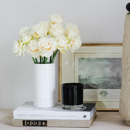 Adrienne White Vase