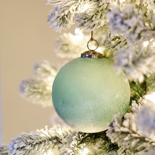 "5"" Frosted Glass Ball Ornament"
