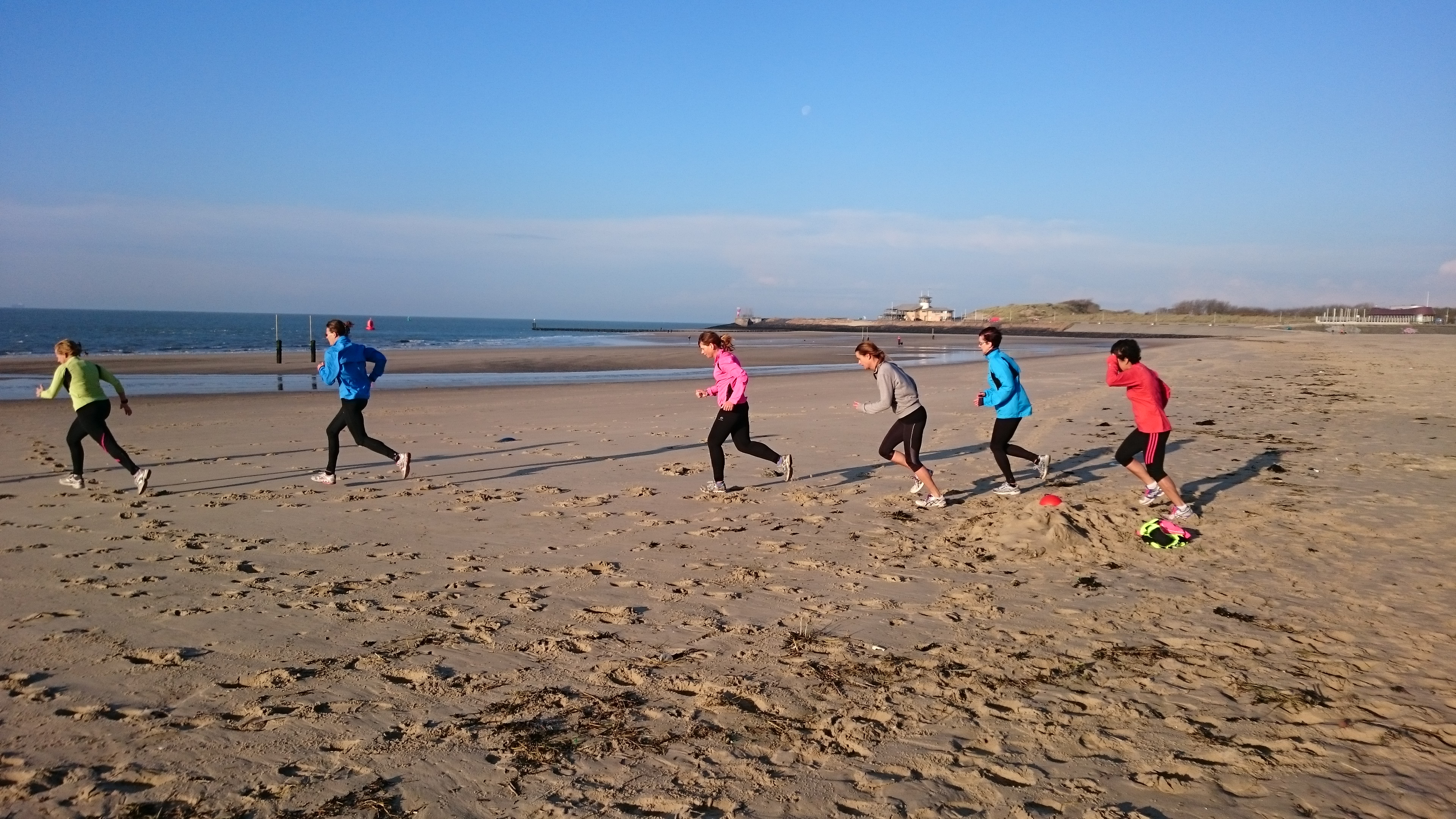 Interval training strand duin