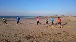 Interval training strand duin