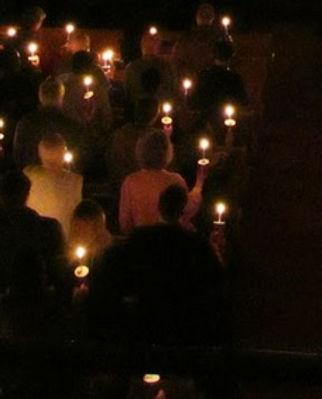 Candlight prayer gathering