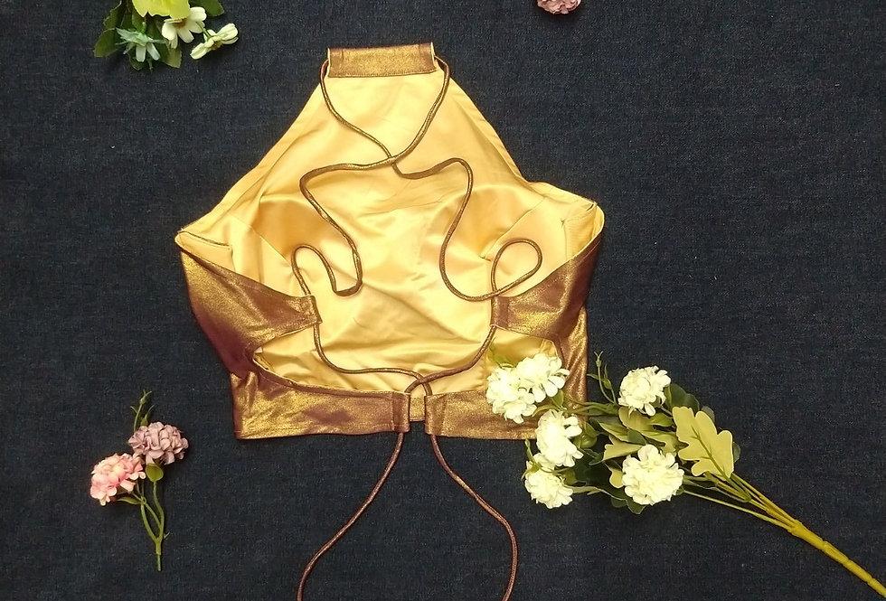 Golden Bralette with Drawstring at back