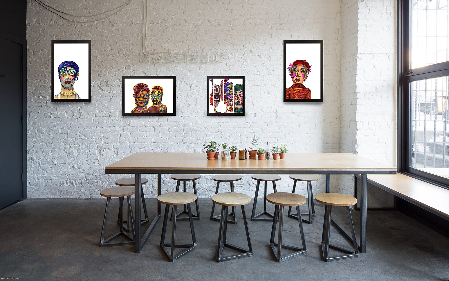 cofee shop art