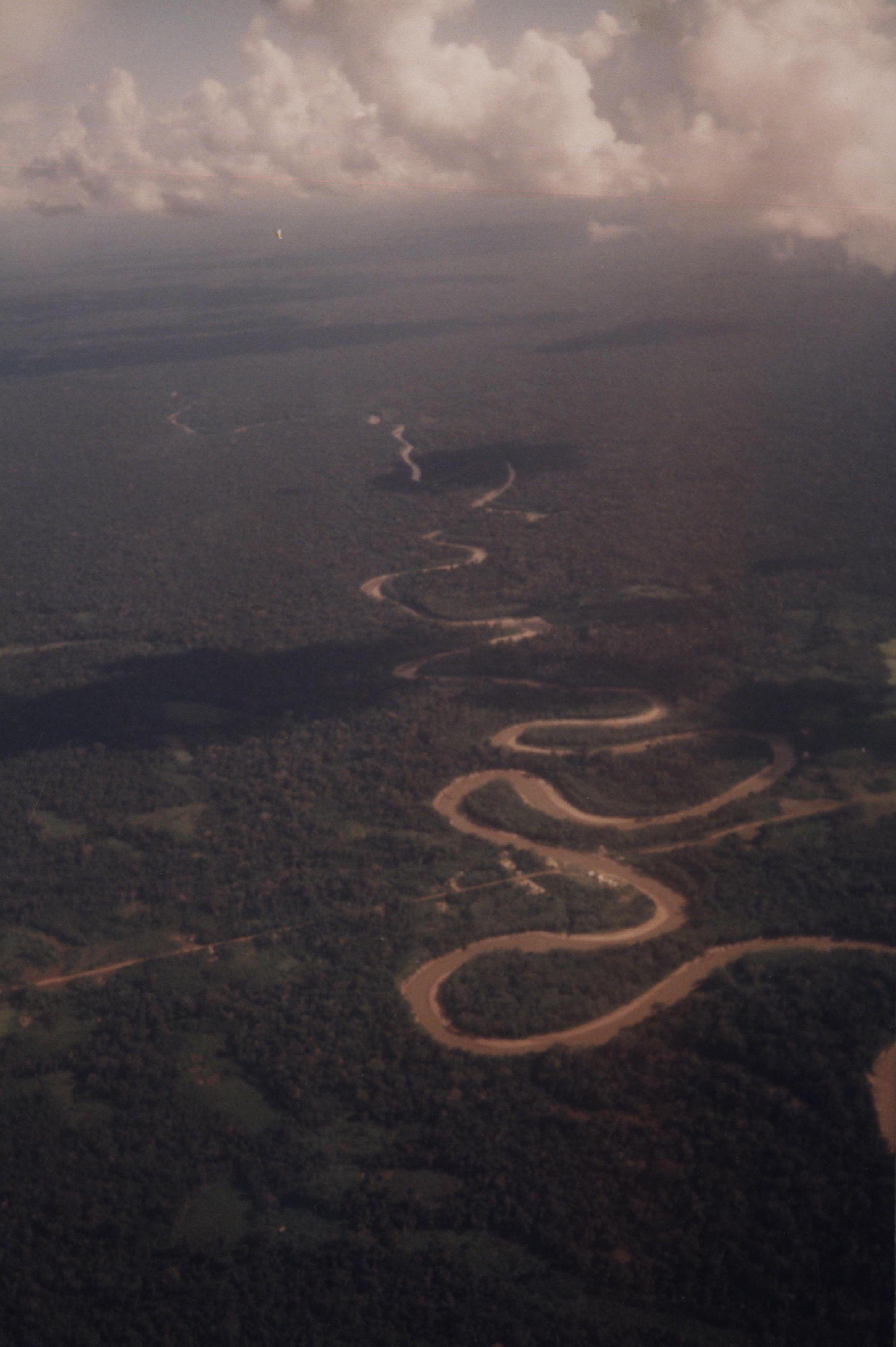 Imagem aérea - A caminho das aldeias indígenas