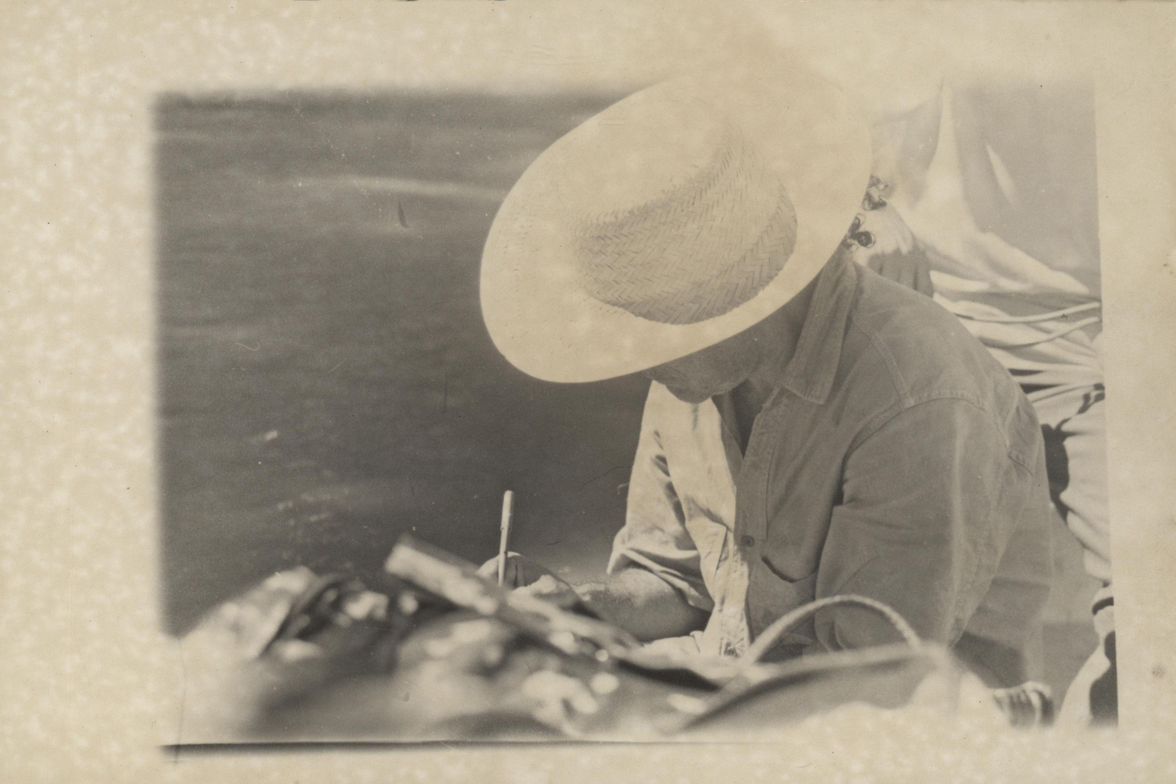 João das Neves na aldeia Aminalá, do povo indígena Jaminawá