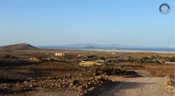 Blick zum Meer auf Lobos und Lanzarote