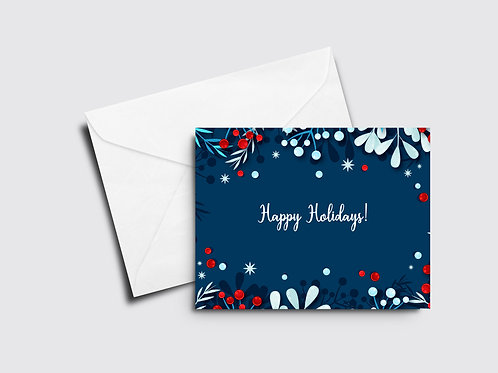 Happy Holidays- Blue