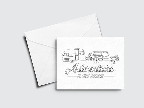 Adventure Is Out There Color Your Own Card