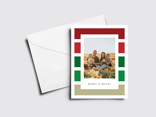 Merry and Bright Stripes - Custom Photo