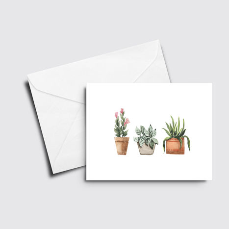 Three Plants Card