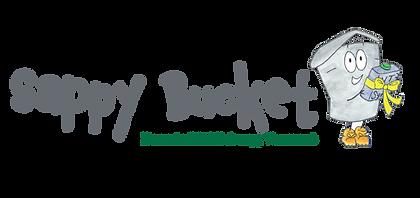 Sappy Bucket logo, with the character ho