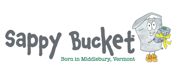 Sappy Bucket logo, with the character ho