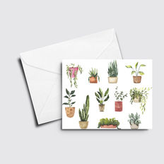 Potted Plants Mixed Card