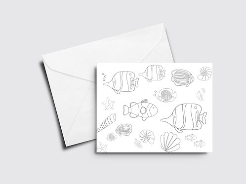 Fish Color Your Own Card