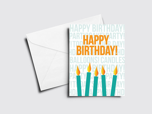 Happy Birthday Card - Candles