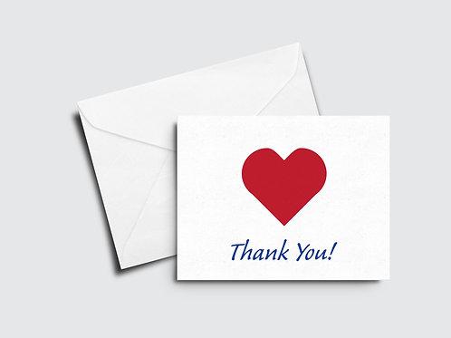 Heart Thank You Card