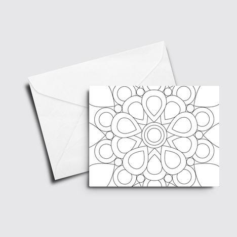 Bloom Mandala - Color it Yourself