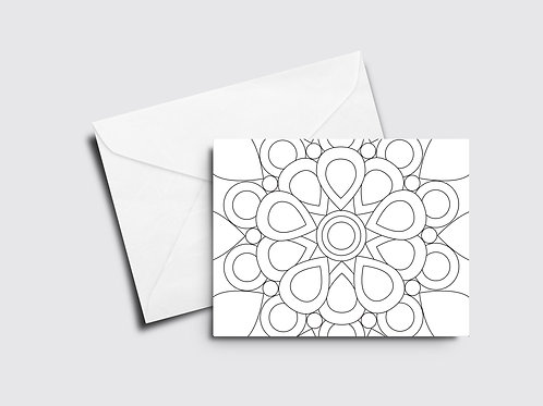 Mandala Color Your Own Card
