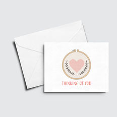 Cross Stitch Thinking of You Card