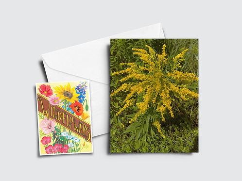 Goldenrod Flower Card
