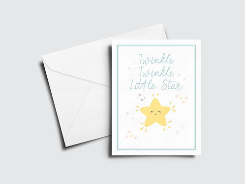 Twinkle Little Star Baby Card