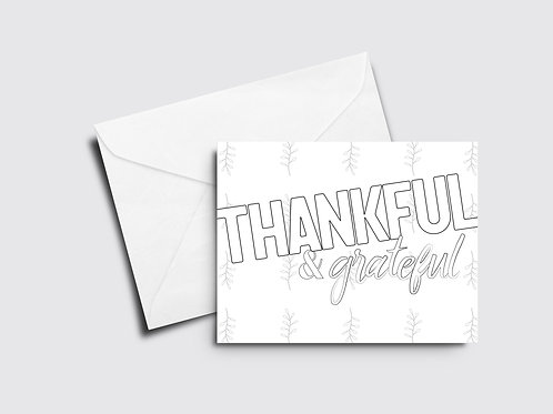 Thankful & Grateful - Color Your Own