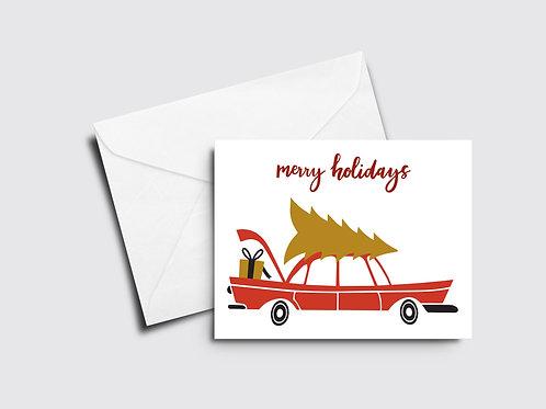 Merry Holidays Car