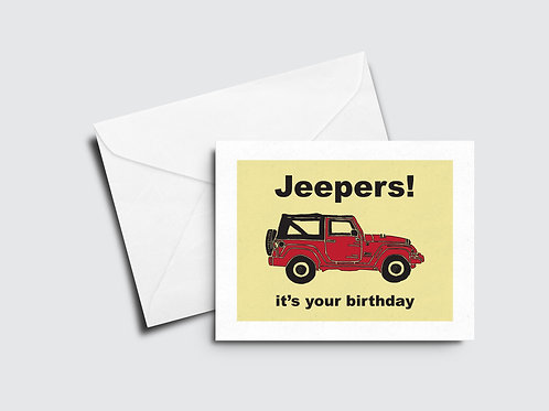 Jeepers Birthday Card