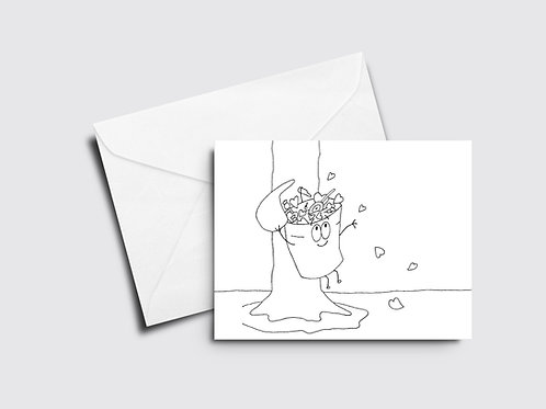 Bucket of Love - Sappy Bucket - Color Your Own