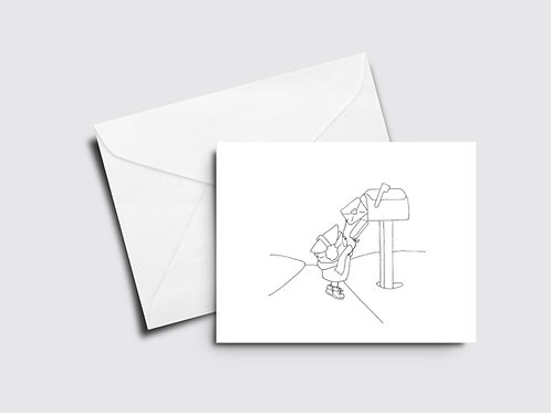 Mailing a Letter - Sappy Bucket - Color Your Own