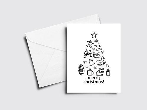 Merry Christmas Icon Tree