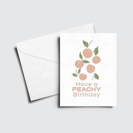 Peachy Birthday Card