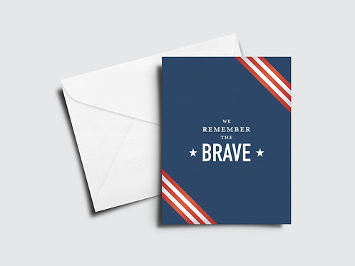 Remember the Brave Memorial Day Card