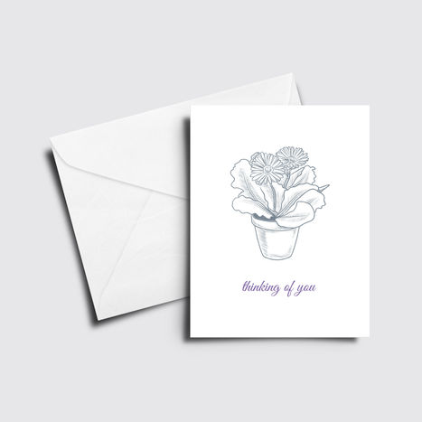 Flower Pot Thinking of You Card